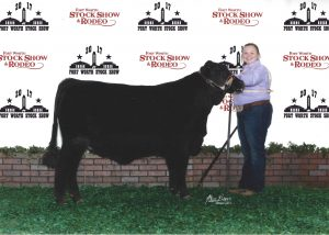 Judge commented that this was one of the best looking heifers in the class.